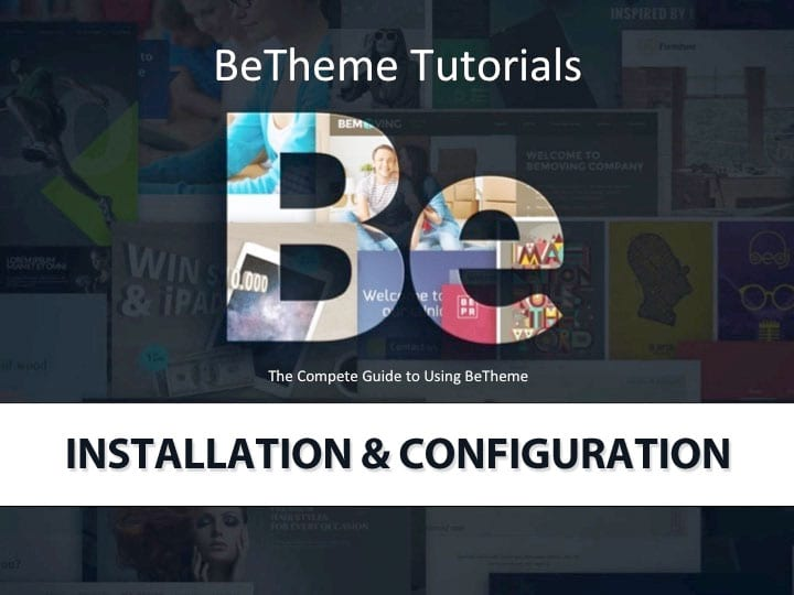 BeTheme Installation & Configuration