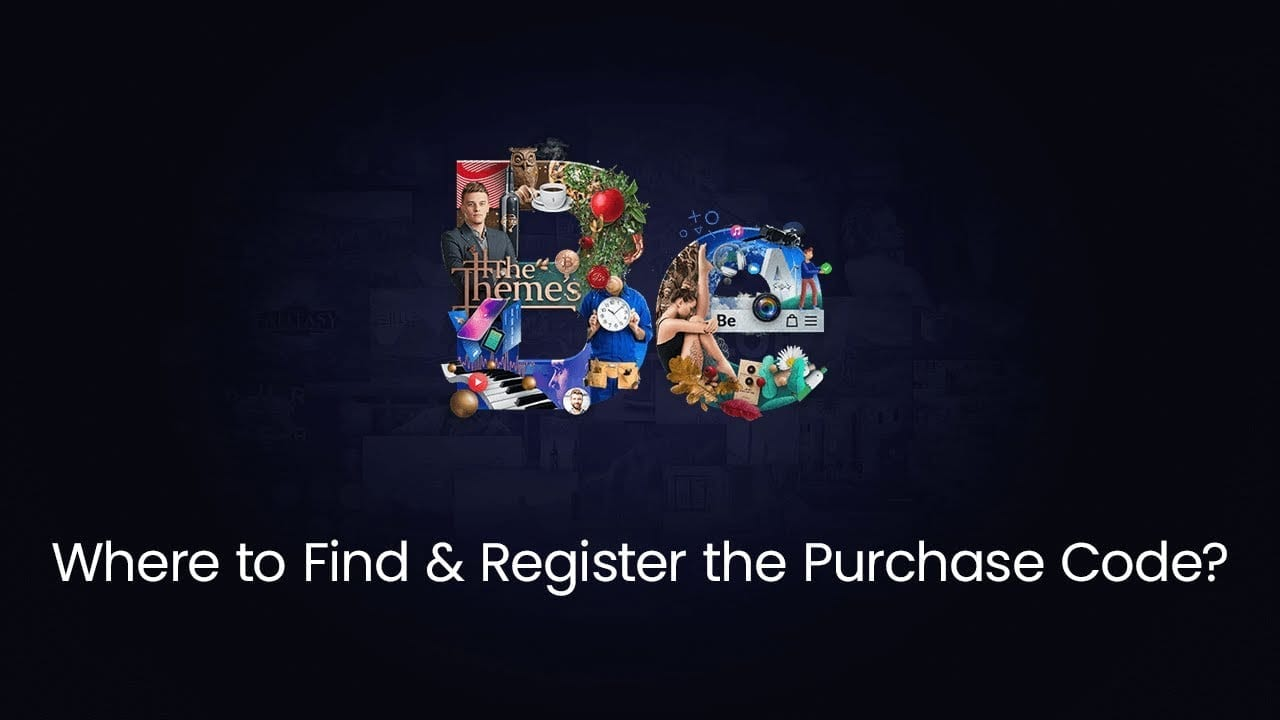 How to find and register purchase code?