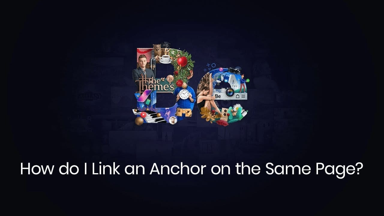 How do I link an anchor on the same page?