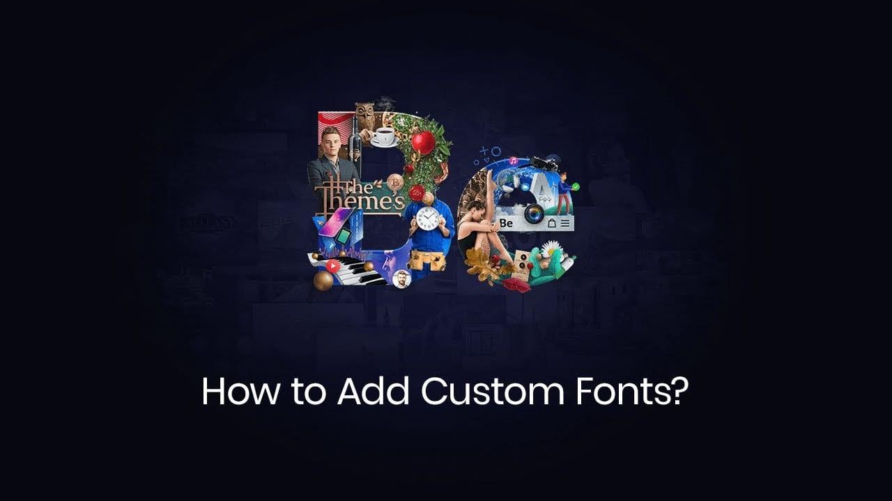 How to add custom fonts?