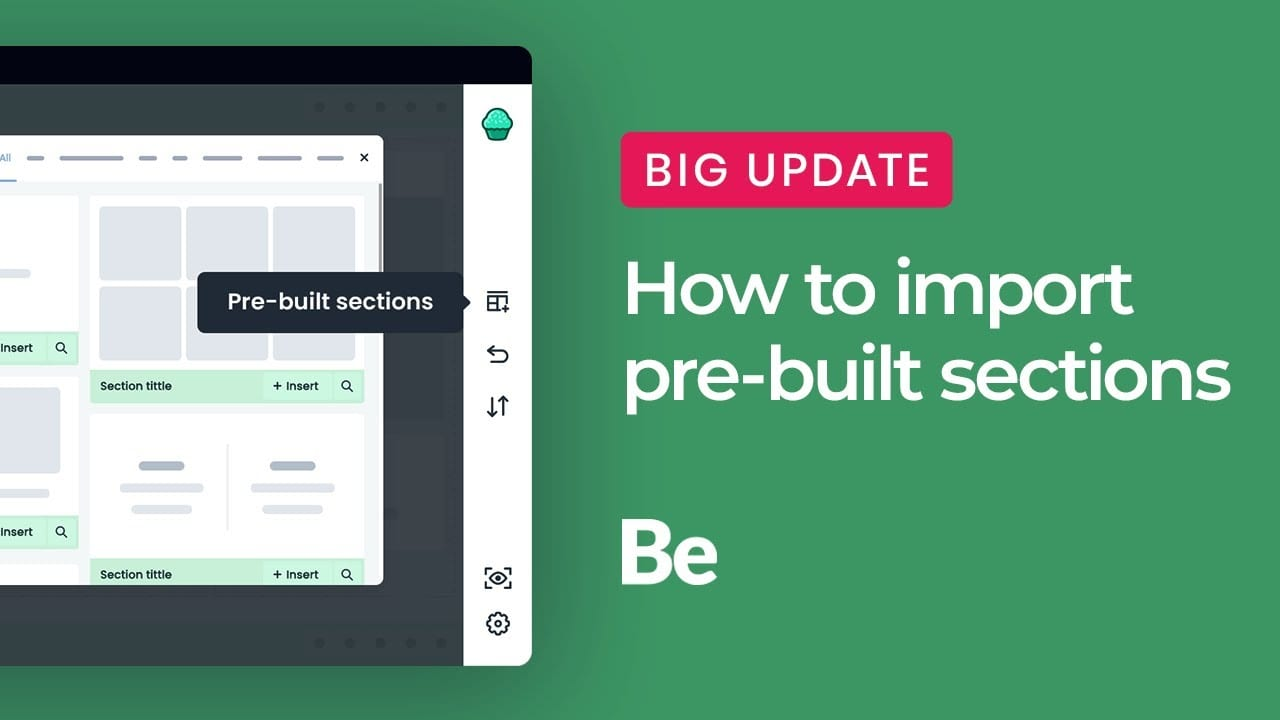How to import pre-built sections?