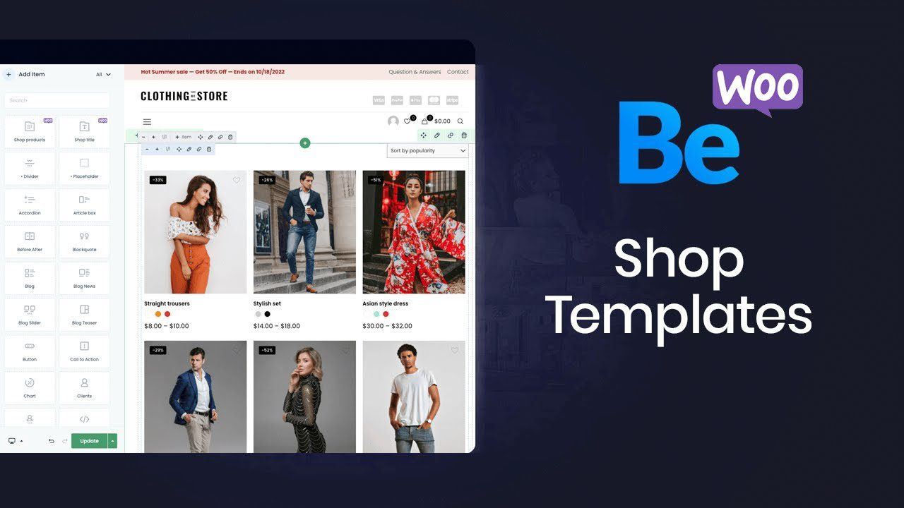How to Create a Shop Template with Muffin Woo Builder